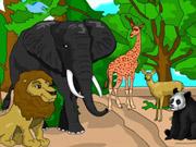 العاب تلوين حيوانات الغابة