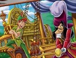 لعبة تلوين بيتر بان والقرصان
